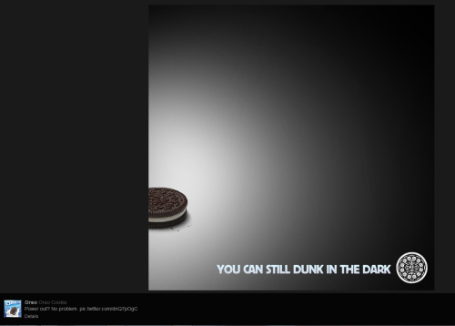 Twitter Oreo Super Bowl Blackout
